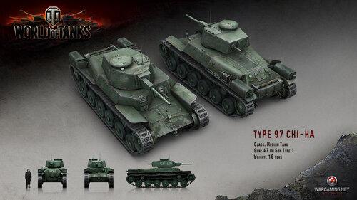 танк type 97 CHI-HA