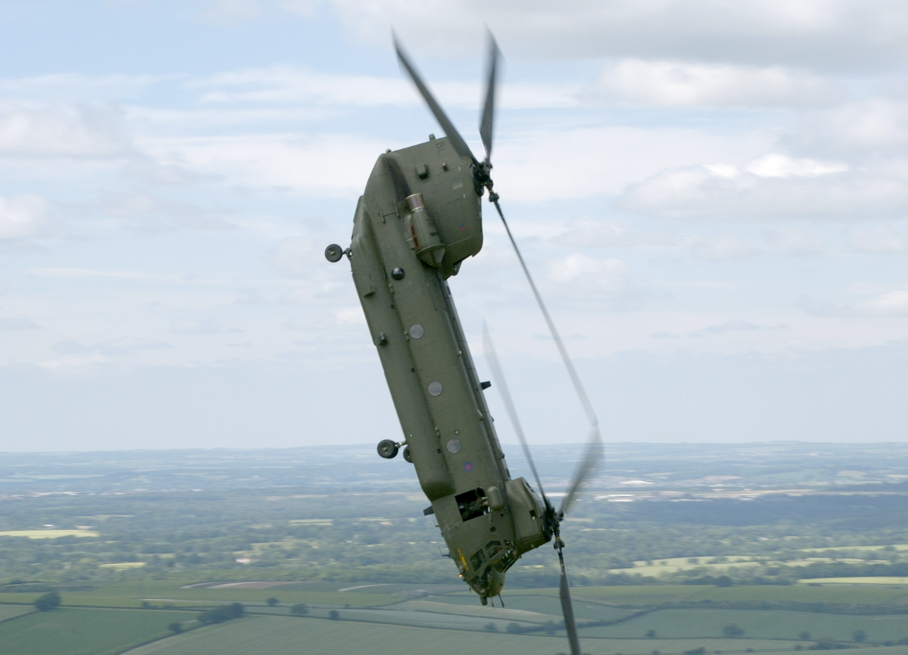 RAF HC-II Chinook helicopter.