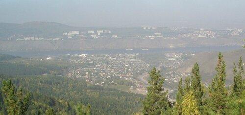 Панорама на город от Такмака