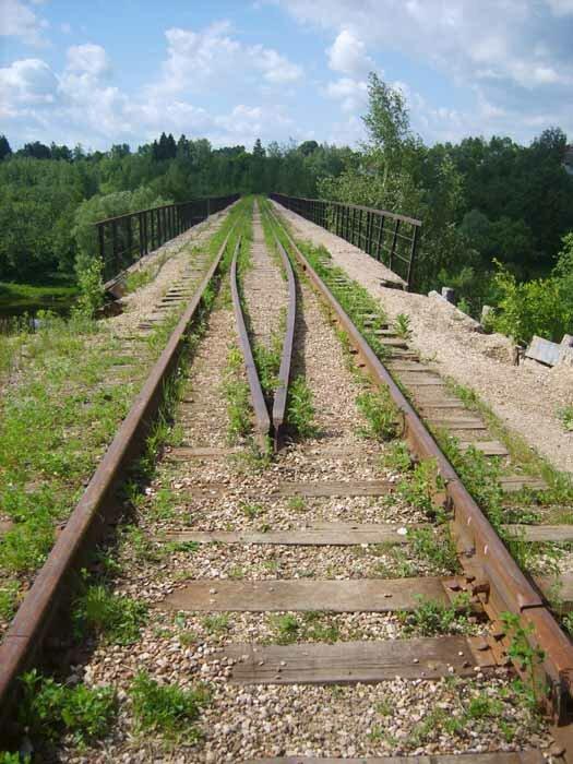 заброшенный железнодорожный мост у Тучково