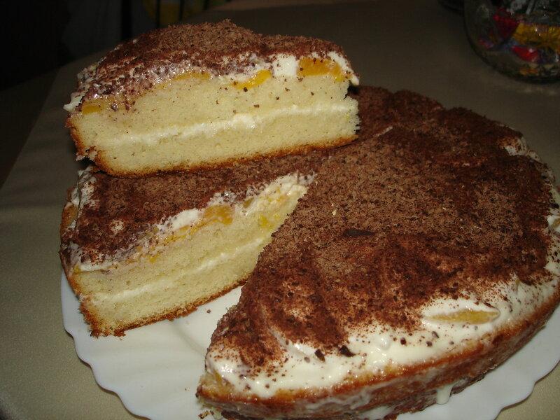 Тортик с персиками