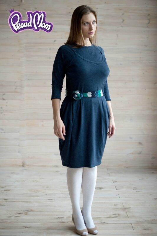Платье для кормящих Атлантида синее Proud Mom
