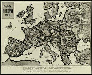 1914. Сатирическая карта Европы