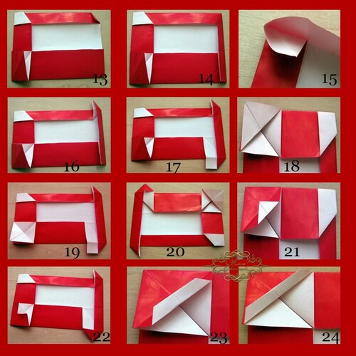 Новогоднее оригами «Дед Мороз