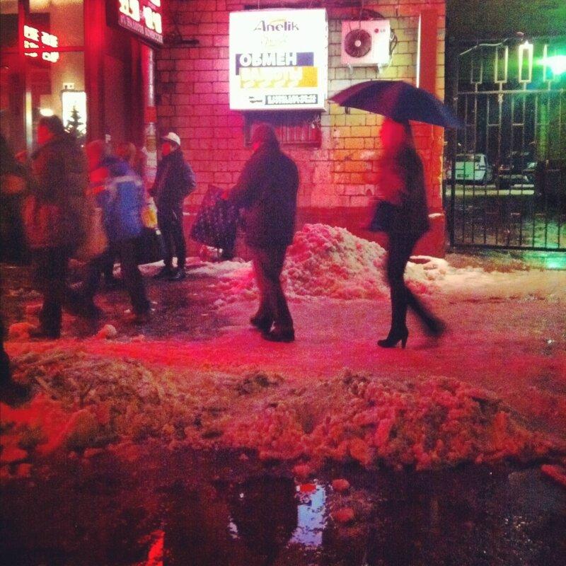Cнегопад на границе сезонов