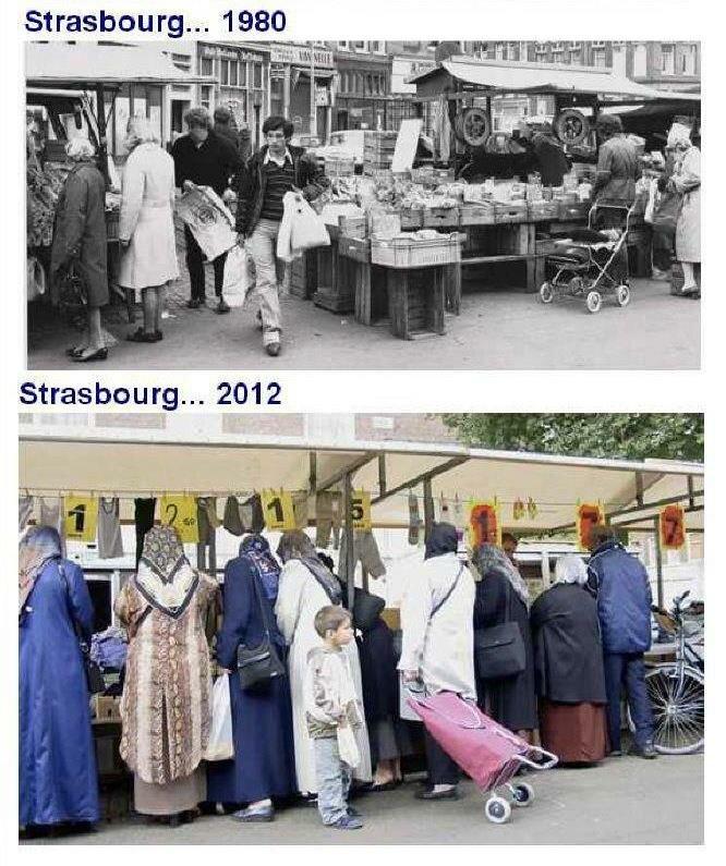 Страсбург. Францция, Афганистан, Иран, Турция, далее везде... И полвека не прошло...
