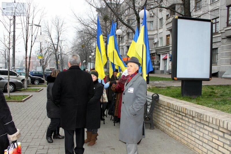 Сбор группы перед шествием 24 ноября