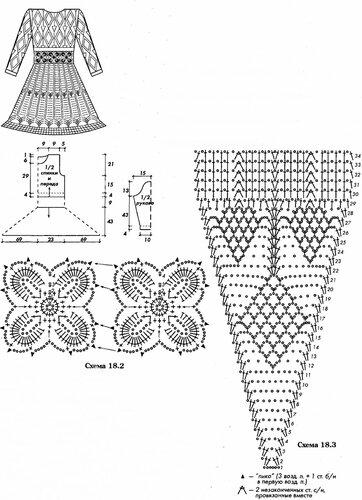 самые красивые ажурные схемы по вязанию спицы