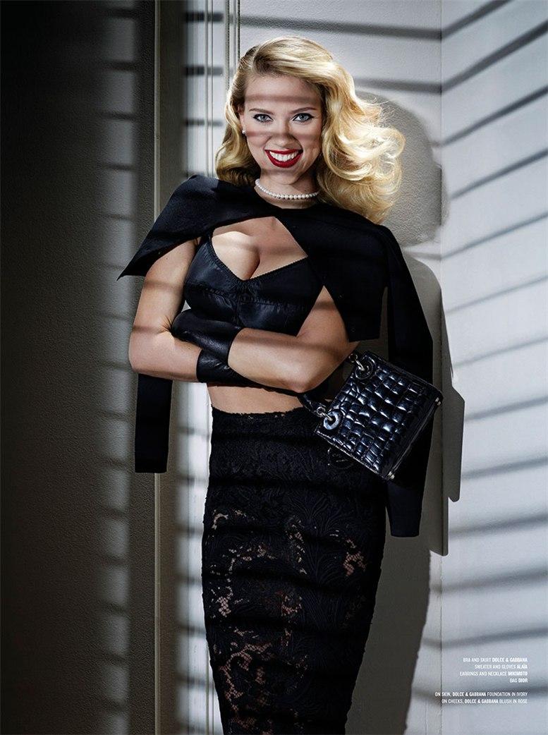 Scarlett Johansson / Скарлетт Йоханссон становится -Психо- для журнала V Magazine / фотограф Jean-Paul Goude
