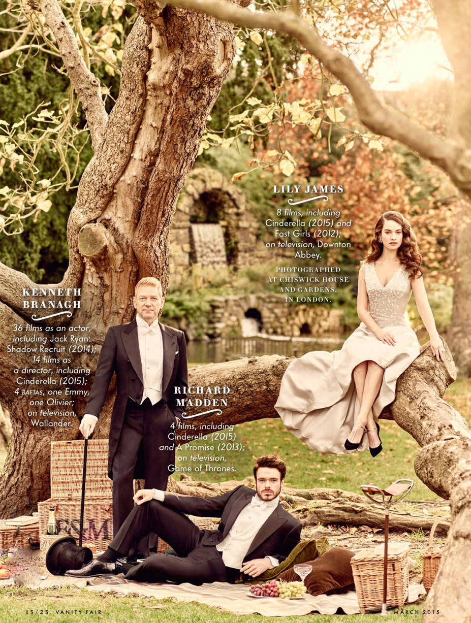 Лучшие британские актеры в проекте The 2015 Hollywood Portfolio by Jason Bell in Vanity Fair march 2015 - Ричард Мэдден, Кеннет Брана, Лили Джеймс / Richard Madden, Kenneth Branagh, Lily James