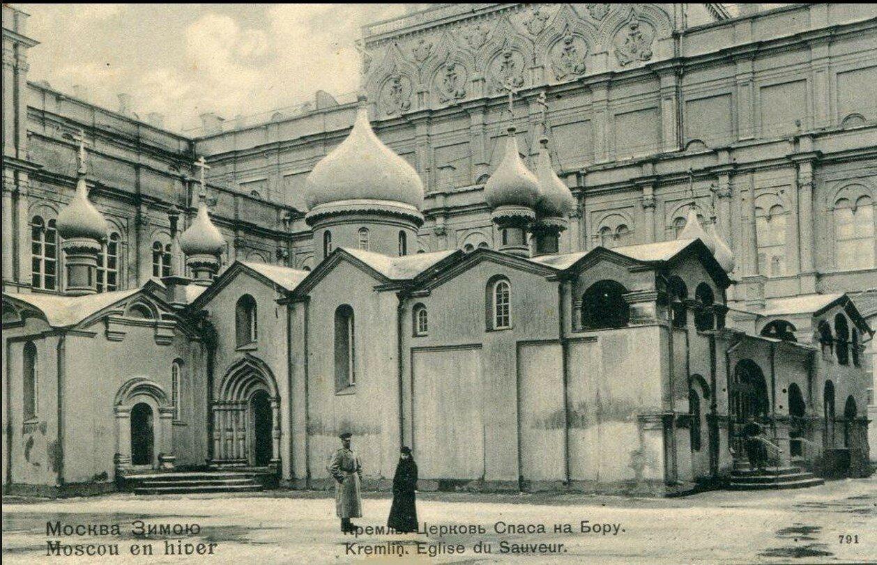 Москва Зимою. Кремль. Церковь Спаса на Бору