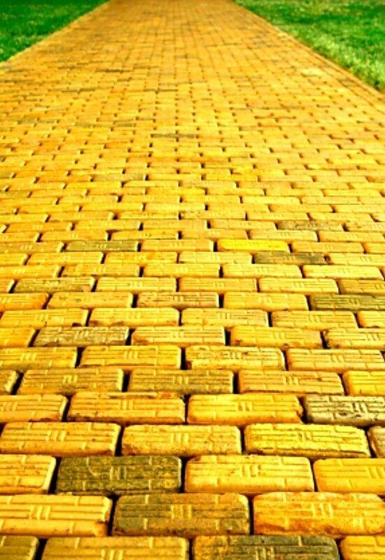 yellow-brick-road, Жёлтая дорога. Волшебник изумрудного города. The Wizard of Oz. 1939г.