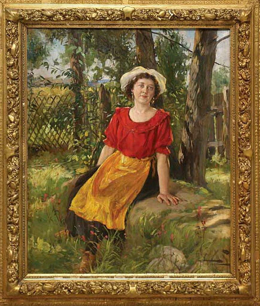 Девушка освещённая солнцем., 1915, Маковский Александр Владимирович (1869-1924)
