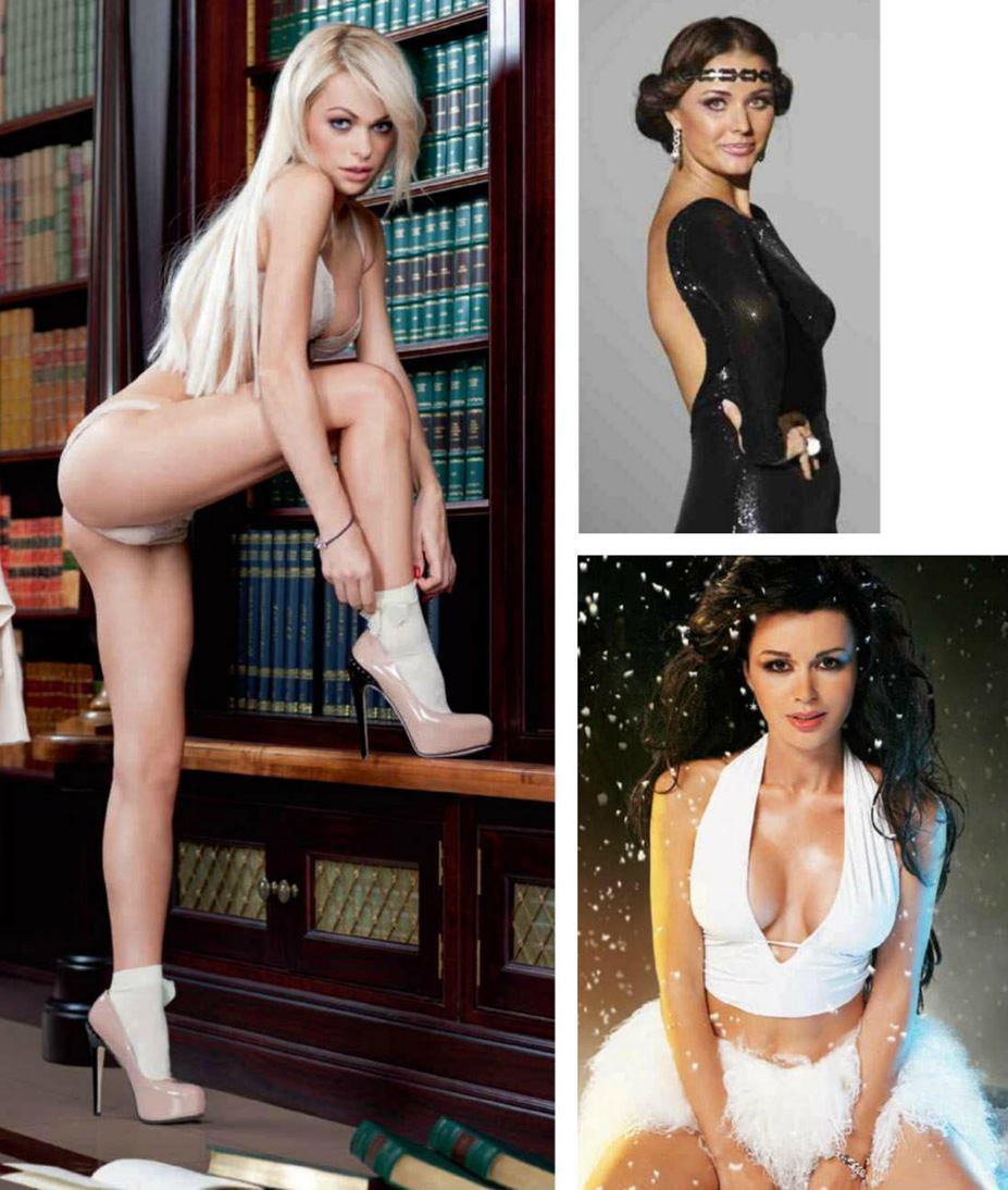 Анна Хилькевич, Оксана Федорова, Анастасия Заворотнюк - 100 самых сексуальных женщин страны - Россия Maxim hot 100