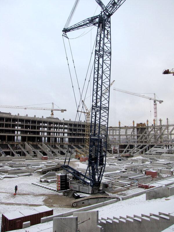 Строительство стадиона «Спартак» ноябрь 2012 (Фото)