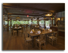 Малайзия. Лангкави. The  Datai Langkawi. Gulai House Restaurant Interiori