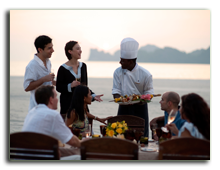 Малайзия. Лангкави. Four Seasons Resort Langkawi. Beach barbecue