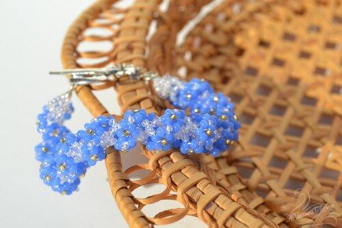 Альбом пользователя Юленька_Лебедь: Браслет голубые цветы5.JPG