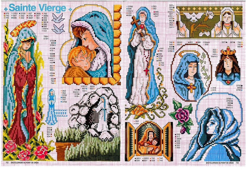Схема вышивки крестом икона маленькая