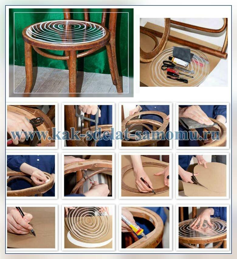 Как своими руками сделать мебель из веток и прозрачный стул