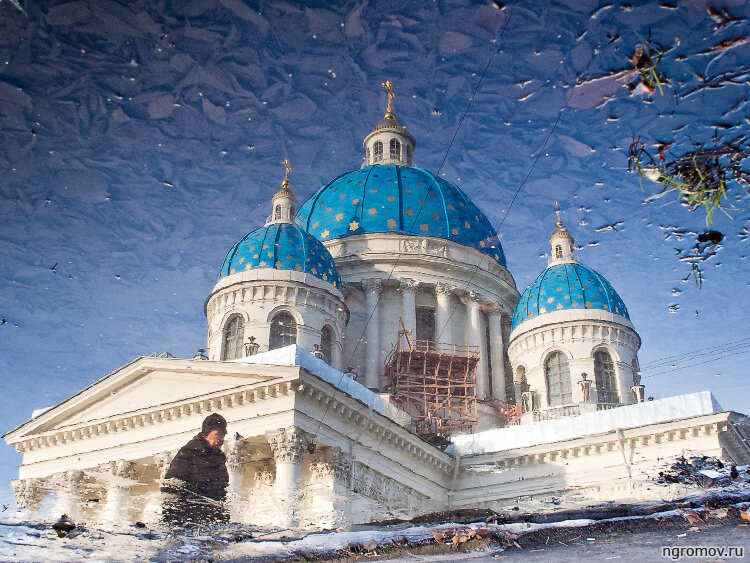 Троицкий собор (осень, отражение, Троице-Измайловский собор)