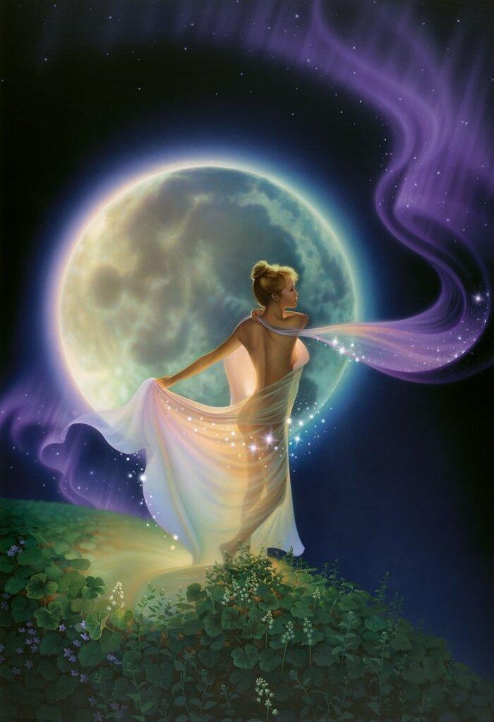 древесных картинки лунной энергии нас