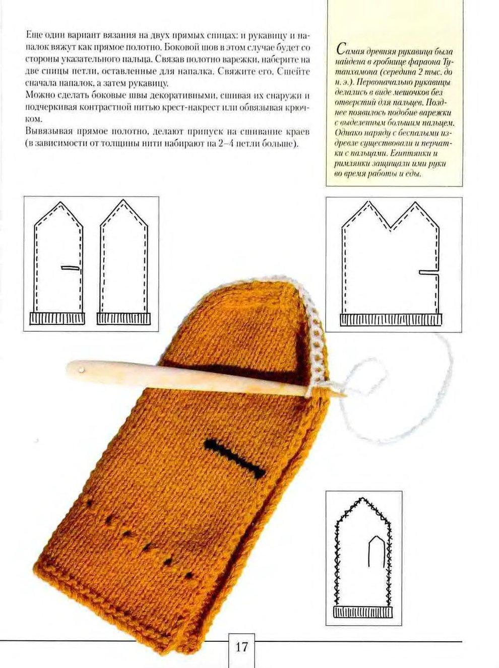 Пошаговое вязание варежки спицами для начинающих
