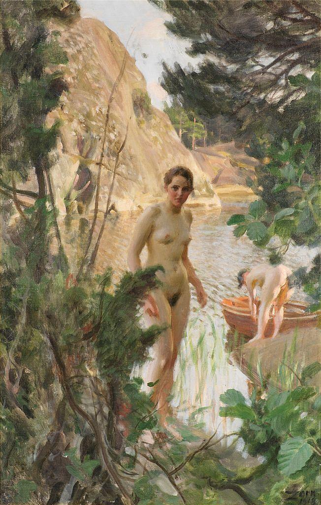 Шлюпка, 1918, масло, холст_Цорн, Андерс (1860-1920