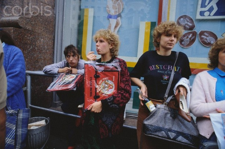 Young Soviet Street Vendors Selling Goods