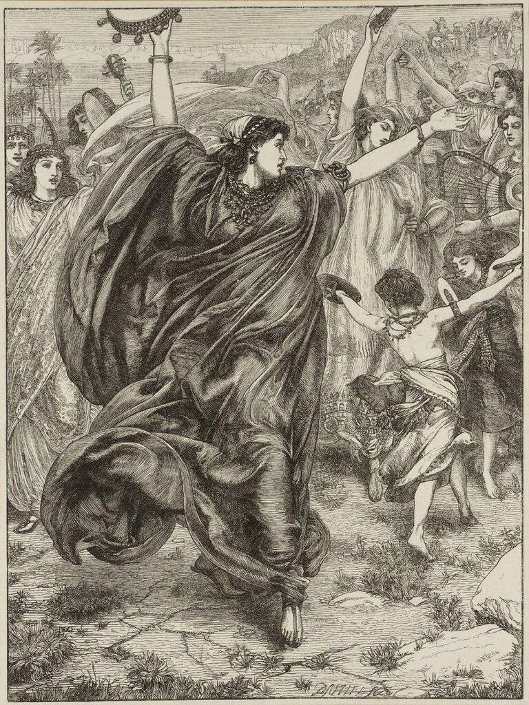 Miriam 1864 by Sir Edward Poynter 1836-1919