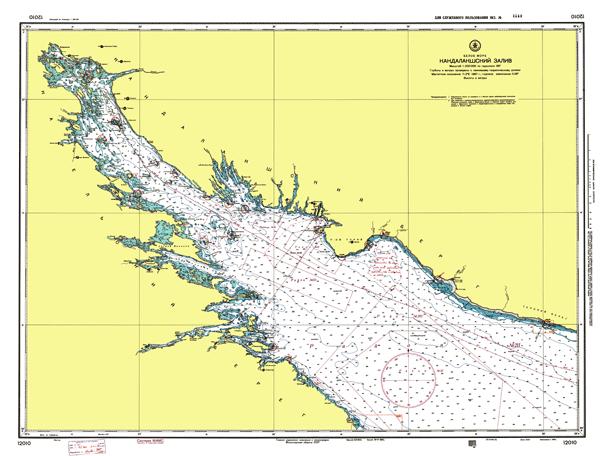 Кандалакшский залив - морские навигационные карты на lenv.ru