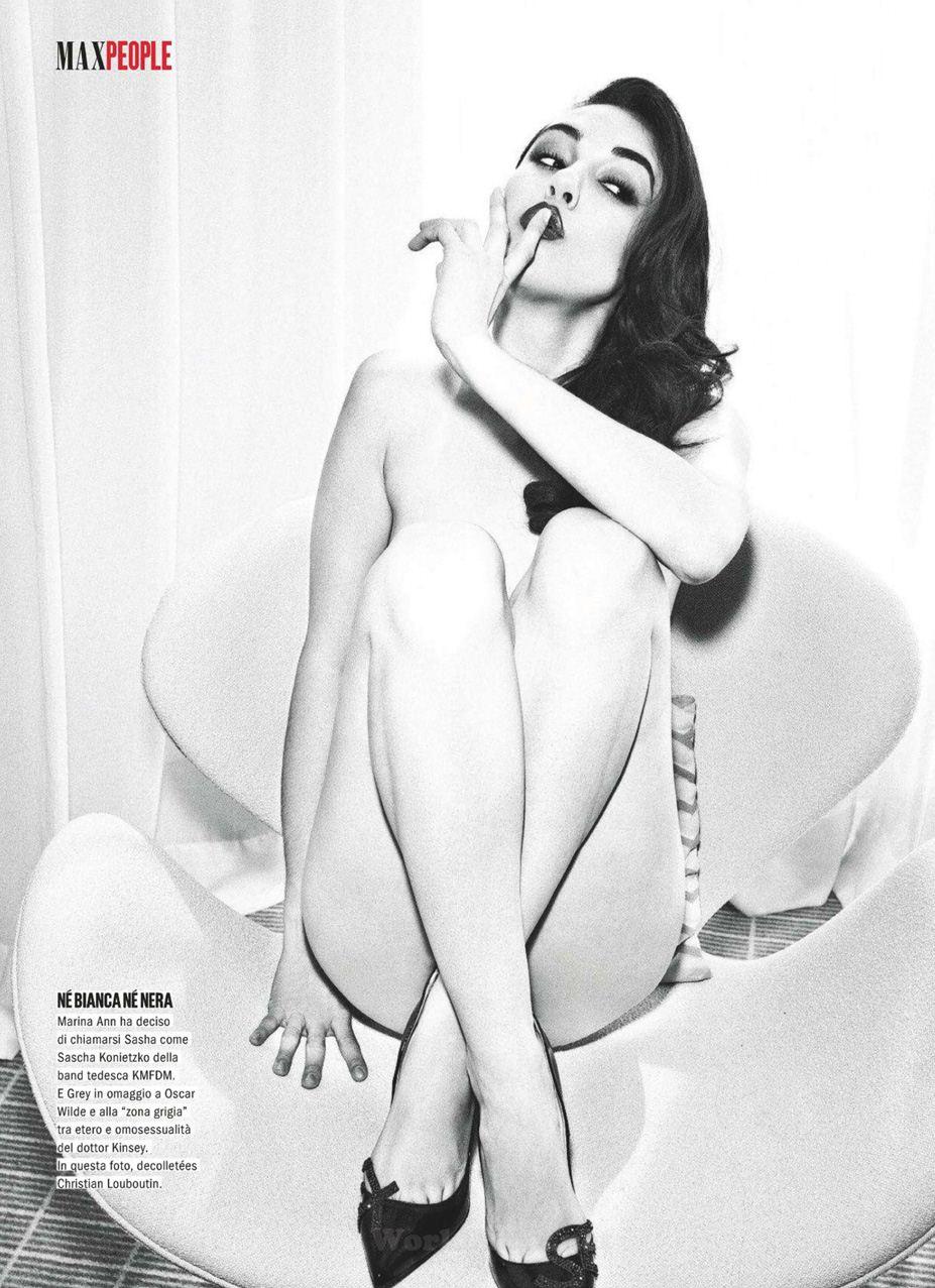Sasha Grey / Саша Грей, фотограф Ellen von Unwerth в журнале Max Italy, октябрь 2012