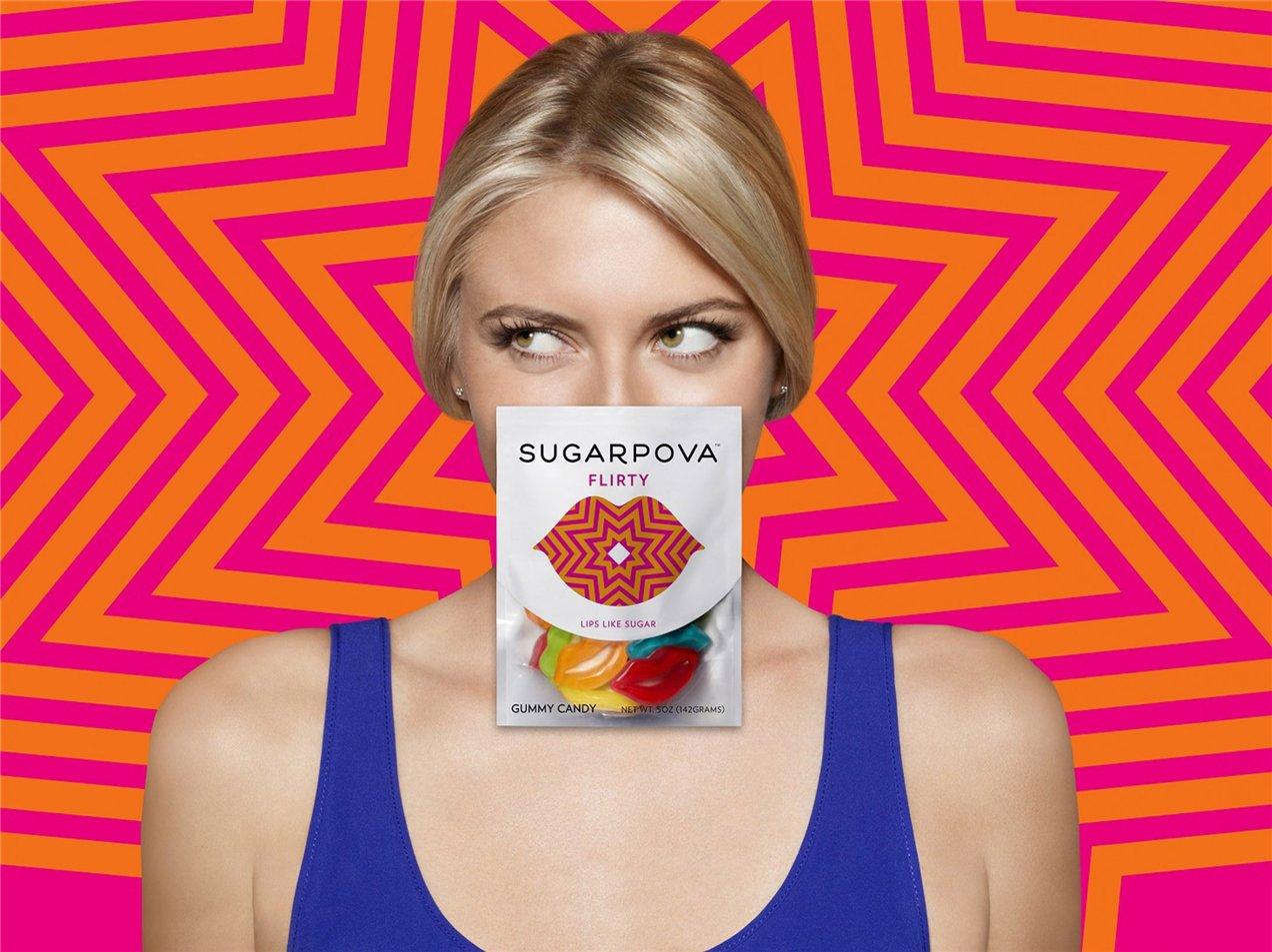 Маша Шарапова рекламирует конфеты под собственным брендом SugarPova