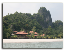 Малайзия. Лангкави. Four Seasons Resort Langkawi. Royal Villa view from sea
