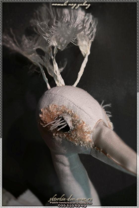тканевые птицы павлин