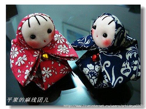 Японских кукол мастер класс + видео #10
