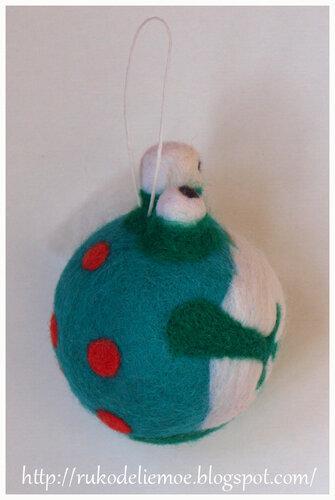 новогодние шарики из шерсти
