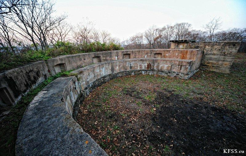 Форт №12 Владивостокской крепости kfss стрелковый бруствер на правом редуте