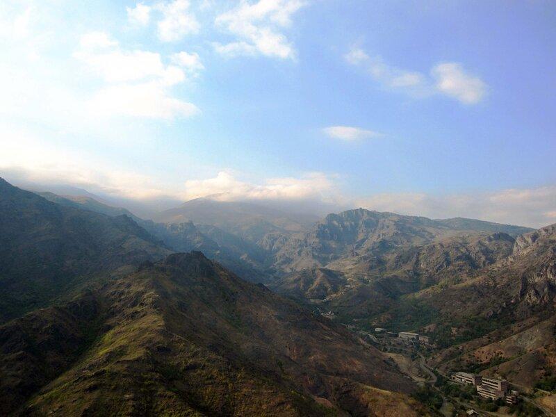 Алаверди, вид на горы