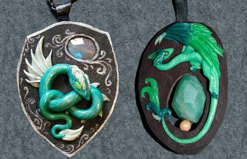 Подвески- талисманы со змейкой для 2013года Змеи