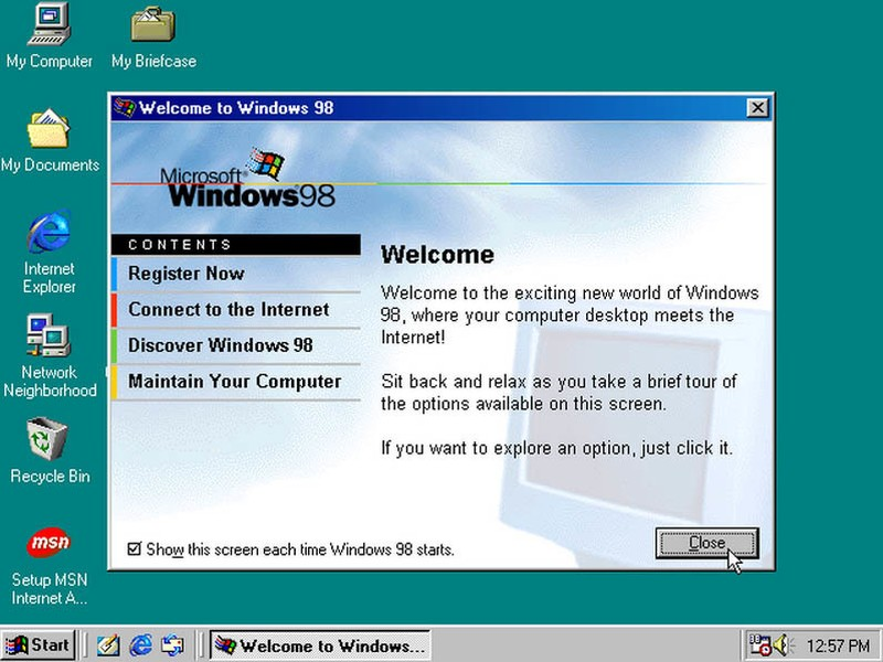 Windows 98 появилась 25 июня 1998 года. Пользователи получили утилиту Windows Update и пару приятных