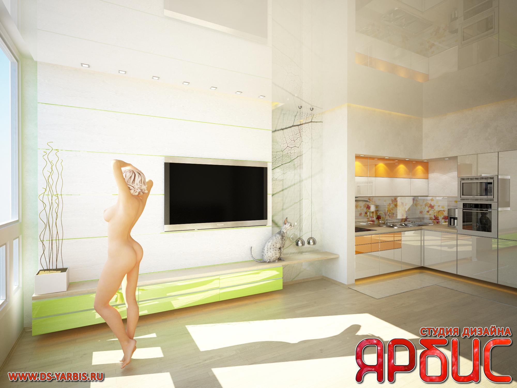 Дизайн квартиры-студии в стиле минимализм
