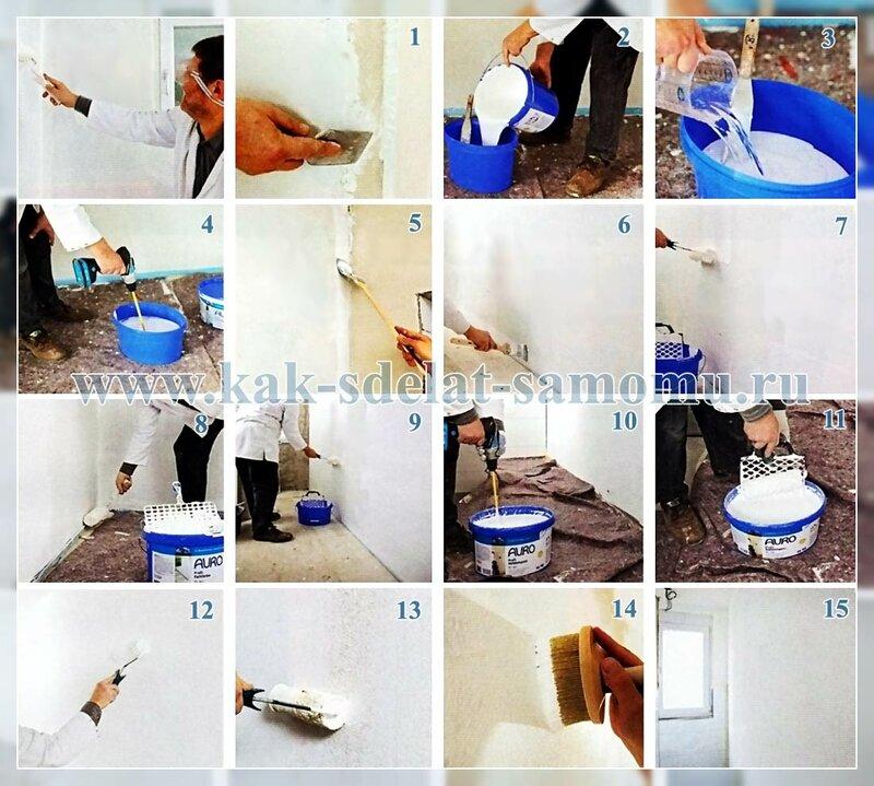Применение и нанесение известковой краски и штукатурки