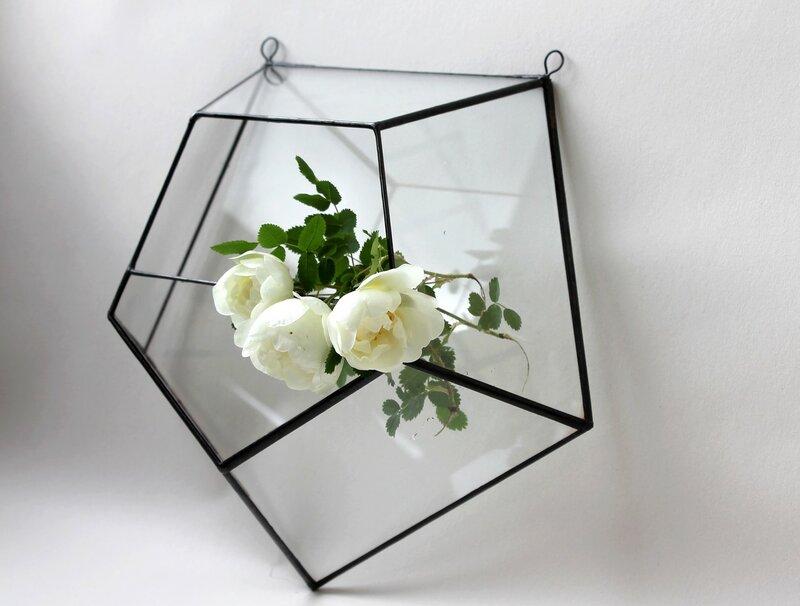 Настенный геометрический подвесной флорариум
