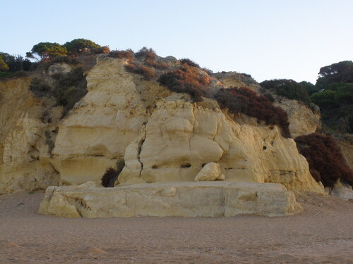 Скалы. Пляж Альбуфейра.
