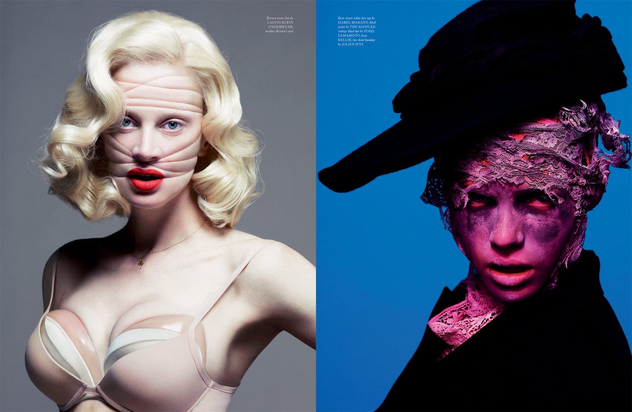 Кристен МакМенами / Kristen McMenamy / Рози Тапнер / Rosie Tapner - Fawnicate by Mert - Marcus in LOVE Magazine fall-winter 2012