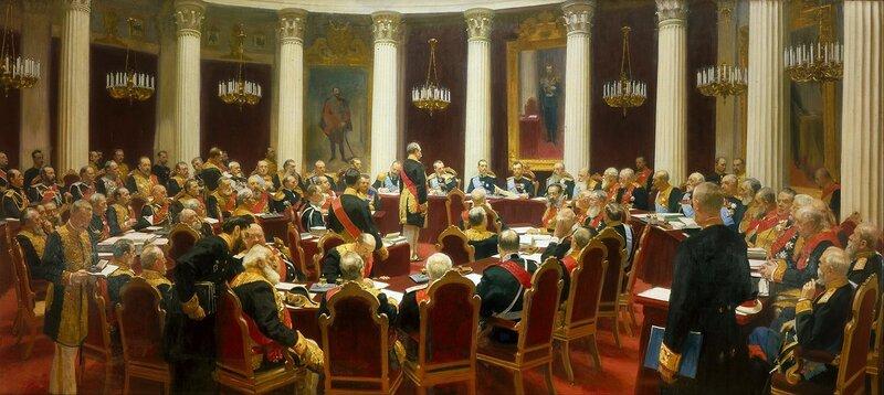 Репин Илья,  Торжественное заседание Государственного совета 7 мая 1901 года в день столетнего юбилея со дня его учреждения, 1902