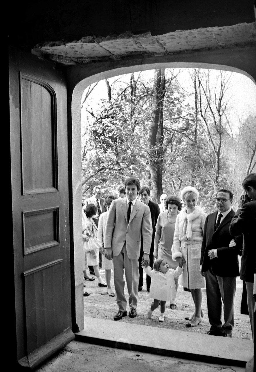 1966. С Натали и Энтони в день крещения Энтони