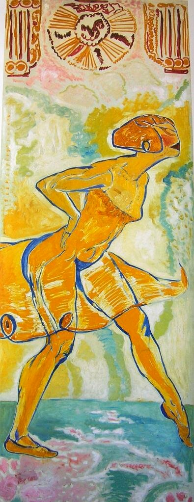 Жёлтая танцовщица, 1912, Меродак-Жанно. (1873-1919)