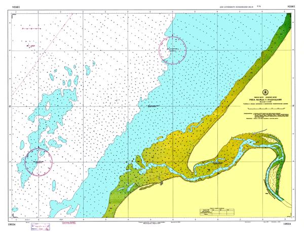 Река Майда с подходами - морские навигационные карты на lenv.ru